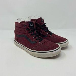 Vans Old Skool Hi Top Marbled Maroon Kids Sneakers